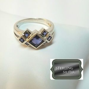 Blue IOLITE .925 Sterling Silver Ring Size 6